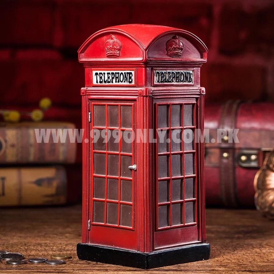 Red Telephone Booth London Personalized Piggy Bank Cartoon Large Blondon Phone Booth Salvadanaio Large Money Box