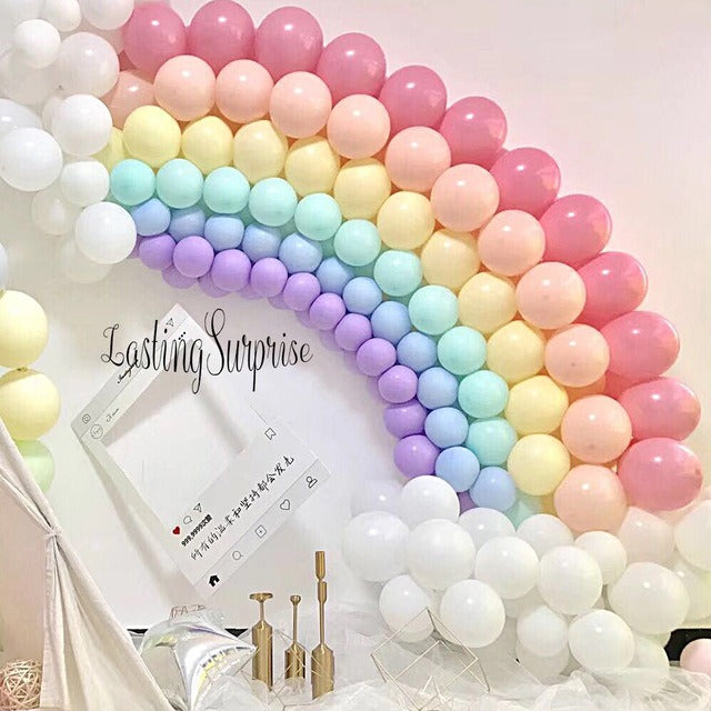 100 PCS 10 INCHES MIX COLOR MACRON BALLOONS