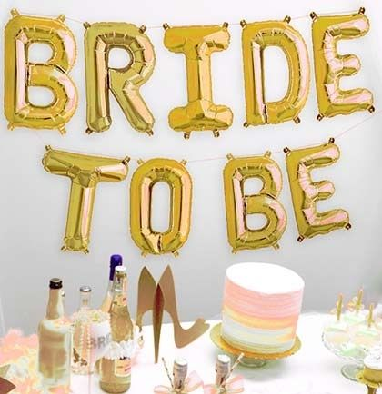 Bride To Be Balloon Golden