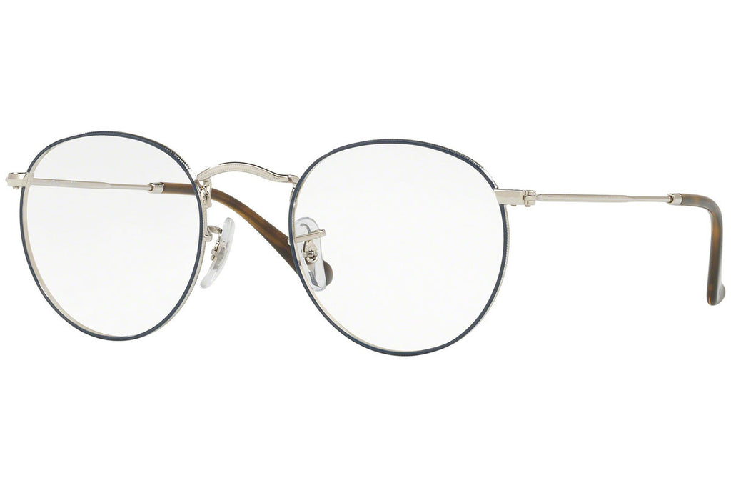 Round Silver Black Spectacle