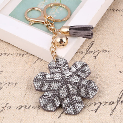 Snow Flake Keychain