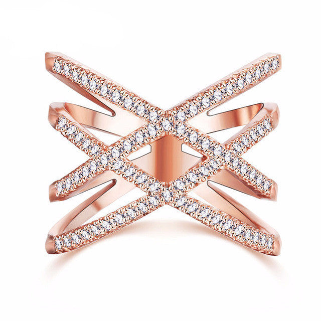 Double X Shape Ring
