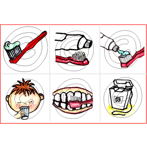 Routine Transitions Le brossage de dents (Moyen et Grand) / Brushing teeth (Medium and Large)