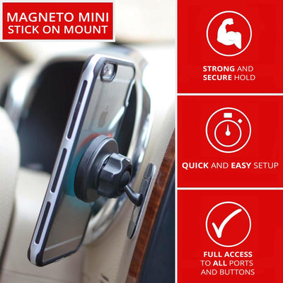 Magnetic Cell Phone Holder for Car, Home and Office | Adhesive Dash Mount | 5 Pack | (Only $7.99 Each)