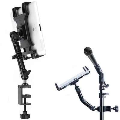 """Tablet Holder for Desk or Microphone Stand 