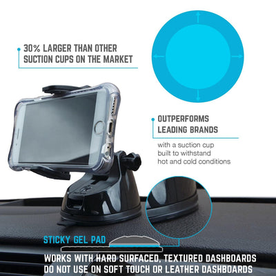Suction Cup Phone Holder | Ultra Grip | Great for Phone and GPS