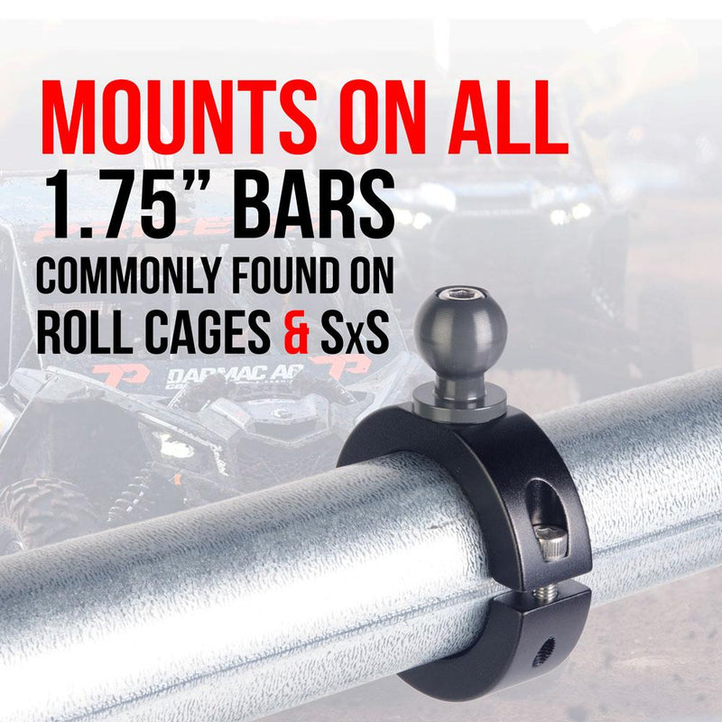 SXS UTV ATV BAR ROLL CAGE METAL PHONE MOUNT SPRING LOADED POLARIS HONDA CAN-AM YAMAHA ARCTIC CAT