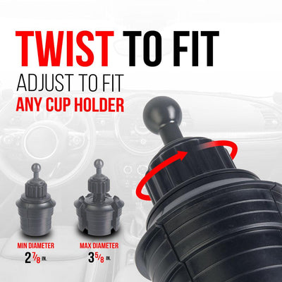 Tackform Cup Holder Mount -Twist to fit
