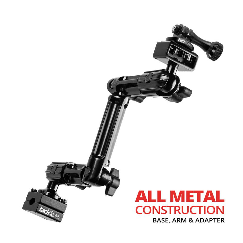 "Headrest Mount for GoPro and Other Action Cameras | 10.75"" Long Modular Arm 