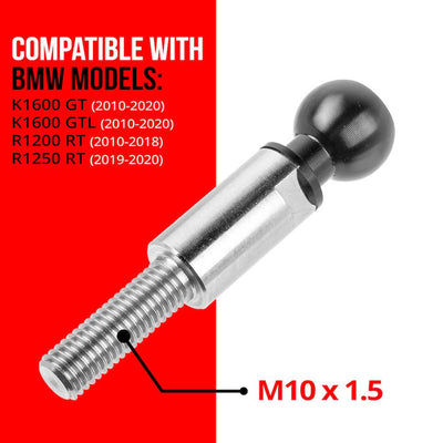 M10 Bolt Adapter for BMW Handlebars for K1600 GT/GTL and R1200 RT (2010 -2013), R1200 RT-LC (2014 - On)