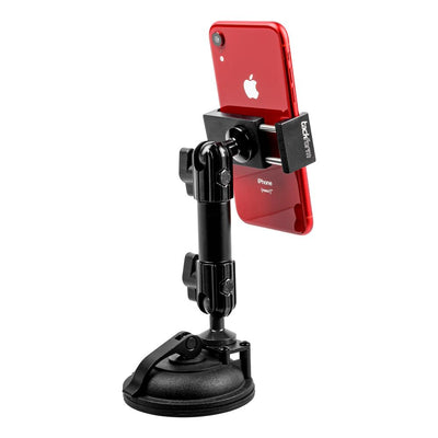 "SUCTION CUP PHONE HOLDER | INDUSTRIAL BUILD | 4.75"" MODULAR ARM 