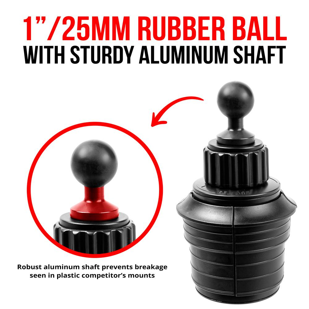 Tackform Enduro Series Round Aluminum Drill Base with 20mm Ball 1.5 Hole Pattern