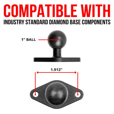 "AMPS 2 Hole Mount | 6"" Aluminum Arm 