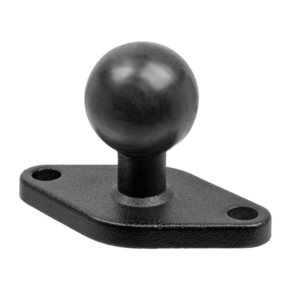 "Diamond Shaped Adapter Plate | Metal Base With 1"" Rubber Ball"