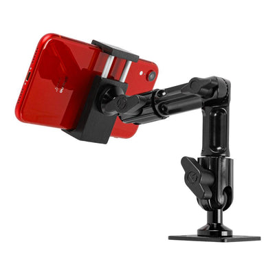 "Drill Base Phone Holder | Vehicle and Wall Mountable | 7"" Modular Arm 