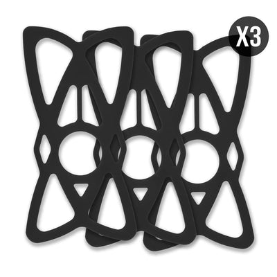 Motorcycle Phone Tether - Slings Black for Handlebar Phone Mounts - 3 Pack