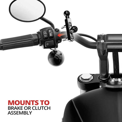 Goldwing Phone Mount - Double Ball Chrome