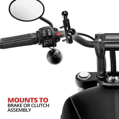 Brake/Clutch/Perch Mount | Two in One, Single or Double Ball - Black