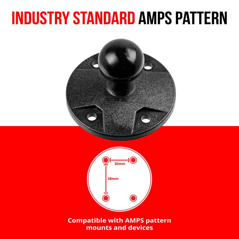 "AMPS Holder - Round | Plastic | 1""/25mm Ball"