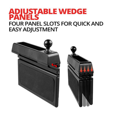 "Seat wedge with 3.75"" plastic shaft and universal Tablet cradle."