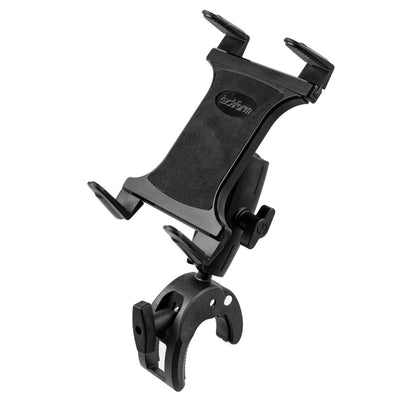 Tablet Holder for Stationary Bicycle, Treadmill, Elliptical, Spin Bike, Microphone Stand, and Indoor Exercise Equipment - Supports All Tablets
