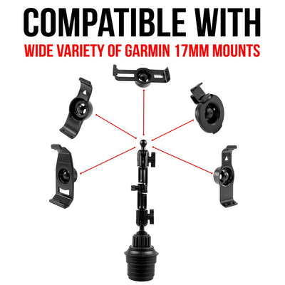 "Cupholder Mount for 17mm holder | 7"" Modular Arm 