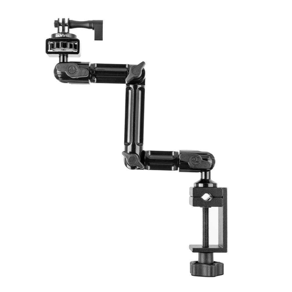 "Table Clamp / Headrest Mount | Compatible with GoPro and Other Action Cameras | 10.75"" Long Modular Arm 
