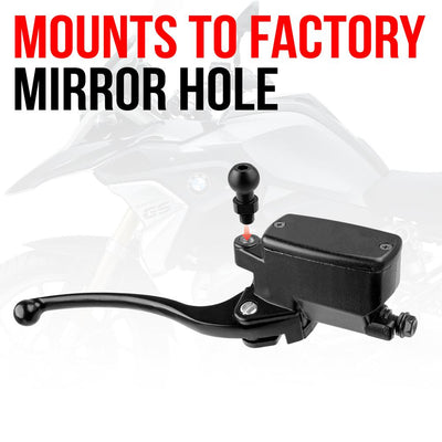 "M10 Fine Threaded Ball Mount for Action Camera | 3.5"" Arm 