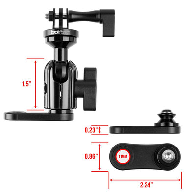 Mirror Mount for Action Camera | Low Profile Coupler Only | Compatible with GoPro