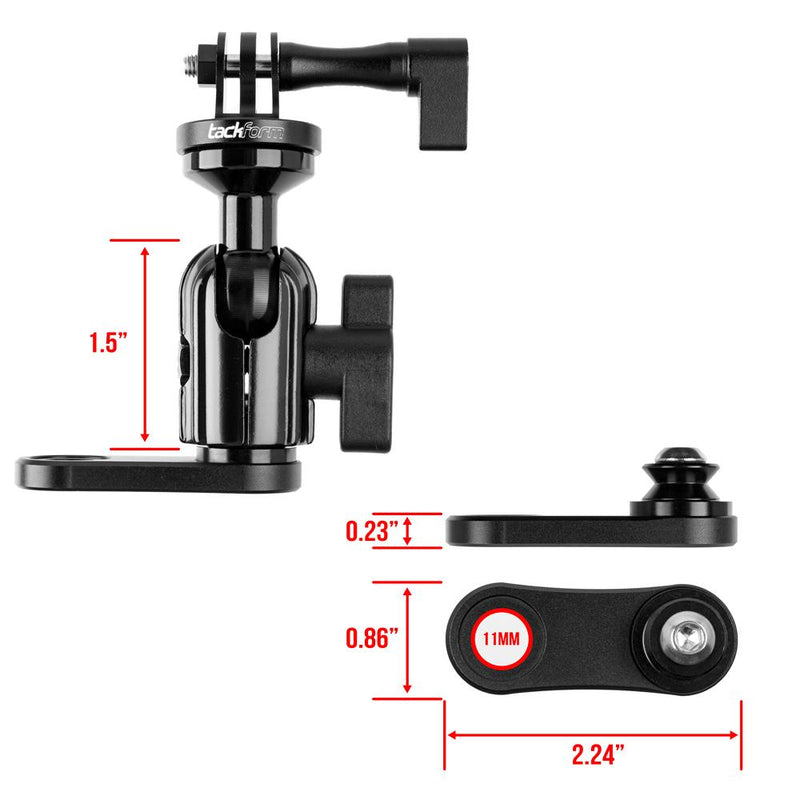 Mirror Mount for Action Camera | Low Profile Coupler Only