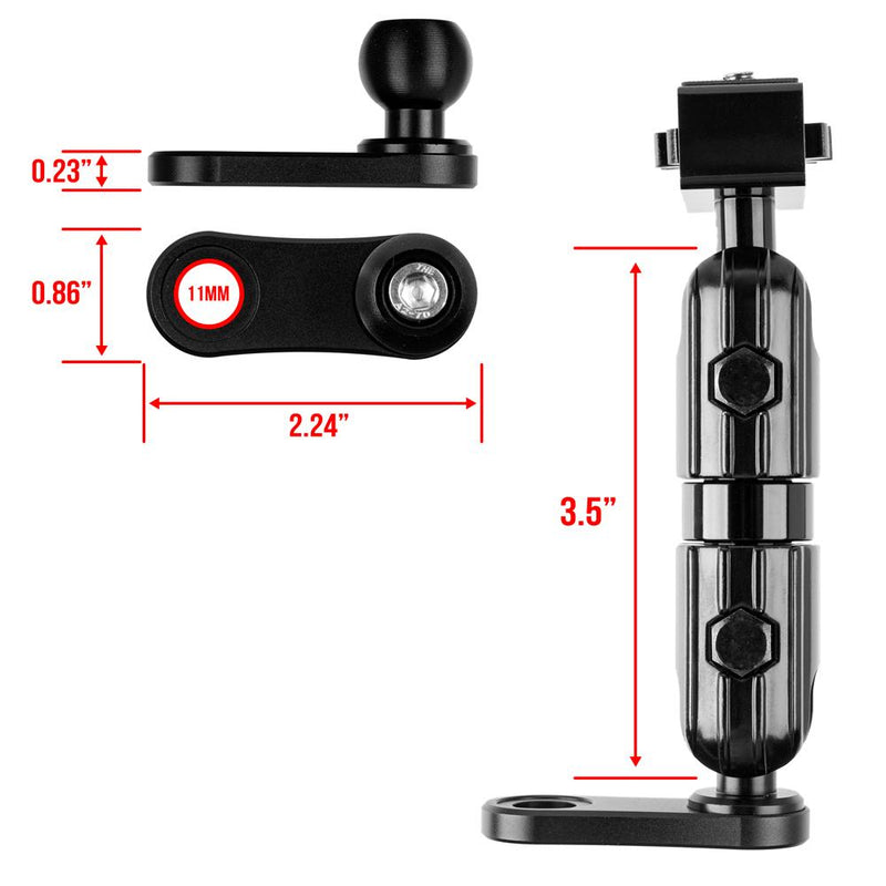 "Mirror Mount with arm for Camera | 3.5"" Stud Arm"