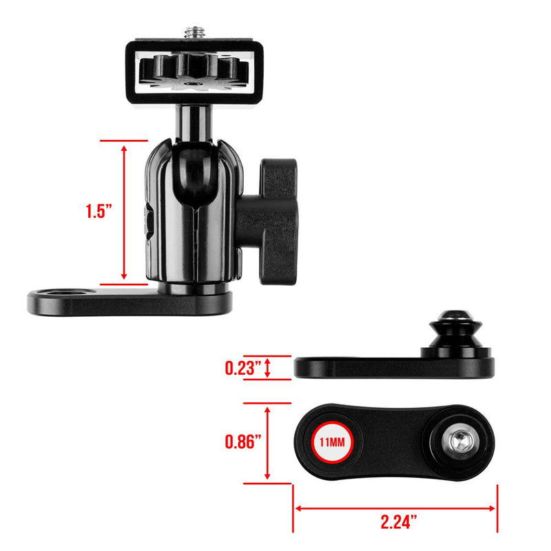 Mirror Mount for Camera | Low Profile Coupler Only