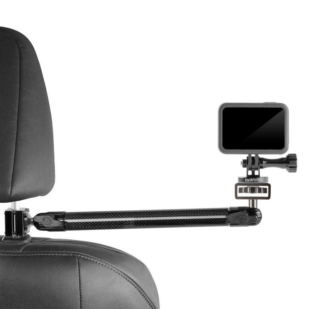 "Headrest Mount for GoPro and Other Action Cameras | 11"" Long Carbon Fiber Arm 