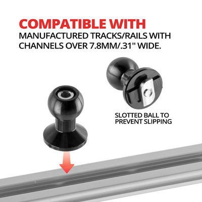 Track Mount | 7.8mm Slot | 20MM Ball
