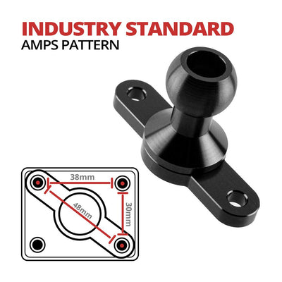 AMPS Mount | 2 Hole | 20mm Ball | Diamond Compatible