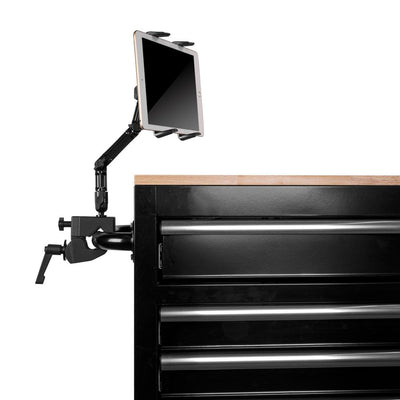 Mega Clamp | Extra Long Arm | Spring Loaded Tablet Cradle | Heavy Duty