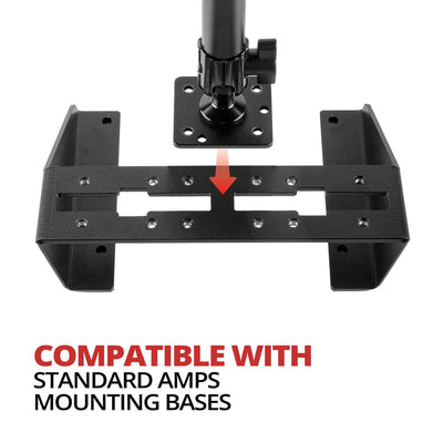 "AMPS Drill Base Mount for CB Microphone S 5"" and 7""  