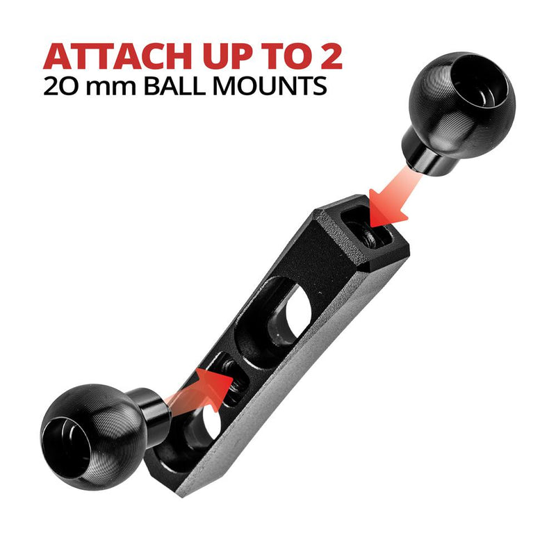 Perch / Brake / Clutch Mount | Dual 20mm Ball
