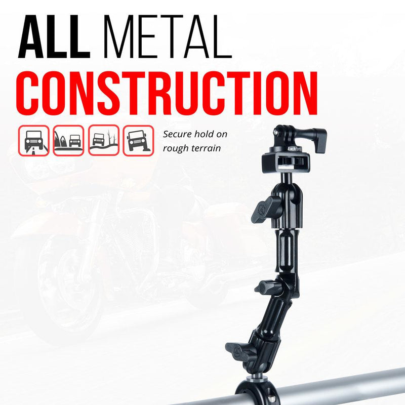 "Enduro Series™ Bar Mount For Gopro | Clips On Bars From 7/8"" To 1.25"" 