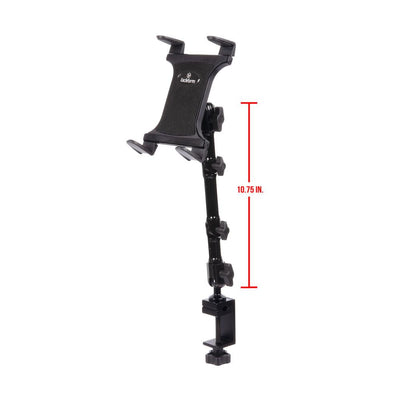 "TABLET HOLDER FOR SPIN BIKE, ELLIPTICAL, EXERCISE EQUIPMENT | 10.75"" MODULAR ARM 