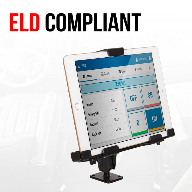 ELD Compliant Tablet Holder for iPad, Galaxy Tab, and other Devices.