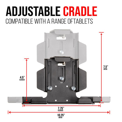 Drill Base Tablet Mount With Locking Cradle | Great for ELD | Heavy Duty | iPad Compatible