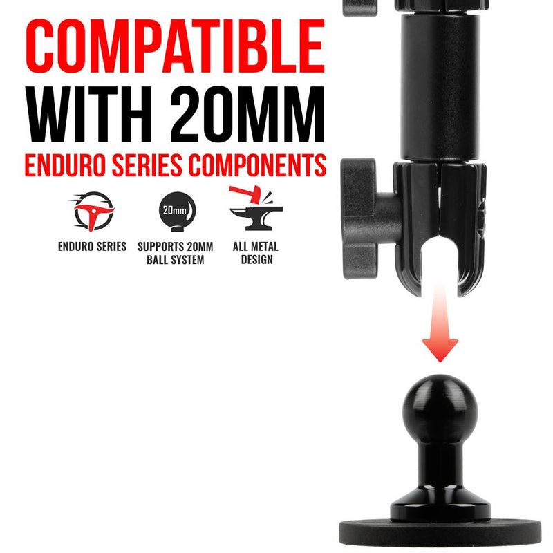 20mm - Enduro Series - All Metal- 4 Hole - Drill Base - Tackform