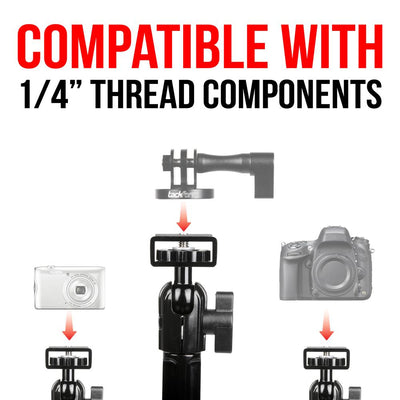 "Headrest Camera Mount | 10.75"" Modular Omni-Directional Arm 