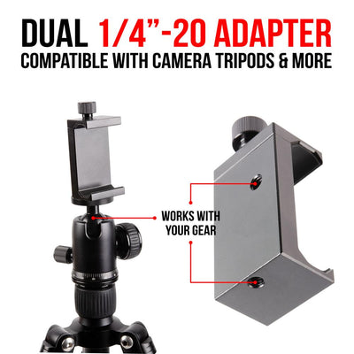 Phone Holder for Tripod | Twist Lock Cradle | Enduro Series