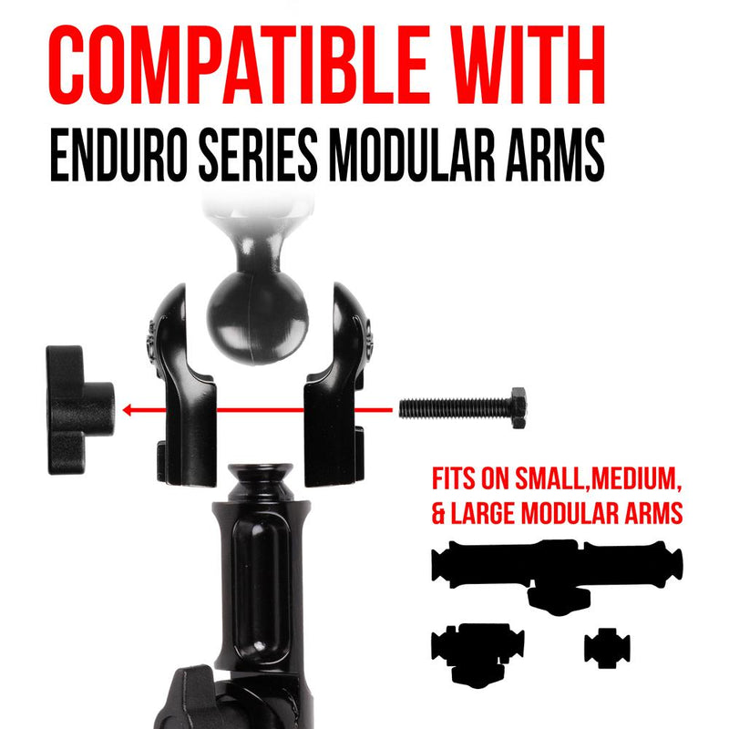 Coupler for 1 Inch (25mm) Ball w/ Bolt and Knob | Enduro Series™