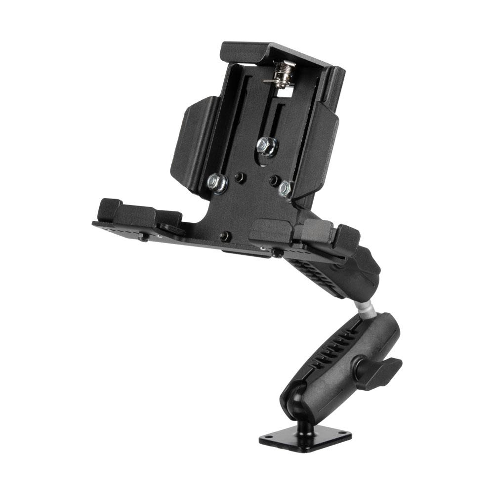 "DRILL BASE - 10.5"" LENGTH - VEHICLE OR WALL TABLET MOUNT - DUAL 3.75"" ARMS - Metal Locking Tablet Cradle -3 POINTS OF ARTICULATION"