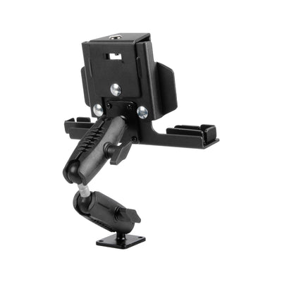 DRILL BASE TABLET MOUNT WITH DUAL ADJUSTABLE ARMS AND LOCKING CRADLE | GREAT FOR ELD | HEAVY DUTY | IPAD COMPATIBLE
