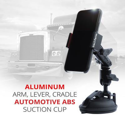 Suction Cup Cell Phone Mount Built From Automotive Grade ABS and Aluminum
