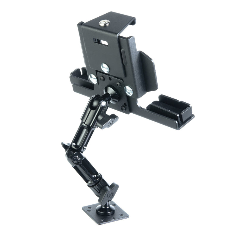"Enduro Series™ Drill Base Tablet Mount with Locking Cradle | 7"" Modular Arm 